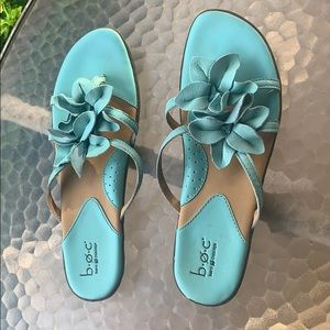 boc aqua sandals size 9